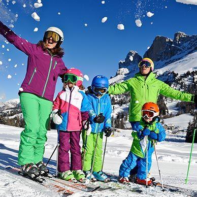 Winter im Herzen der Dolomiten.